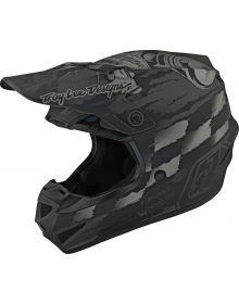 Troy Lee Designs SE4 Polyacrylite Youth Helmet Strike Gray/Silver
