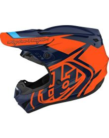 Troy Lee Designs GP Youth Helmet Overload Navy/Orange