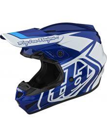 Troy Lee Designs GP Youth Helmet Overload Blue/White