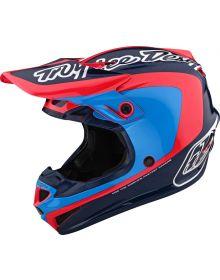 Troy Lee Designs SE4 Polyacrylite Youth Helmet Corsa Navy/Cyan