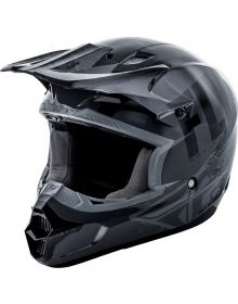 Fly Racing 2018 Kinetic Burnish Youth Helmet Grey/Black