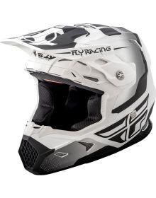 Fly Racing 2018 Toxin Original Youth Helmet Matte White/Black