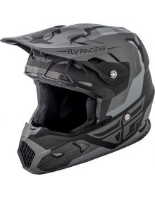 Fly Racing 2018 Toxin Original Youth Helmet Matte Black/Grey