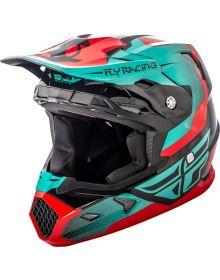 Fly Racing 2018 Toxin Original Youth Helmet Red/Teal/Black