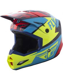 Fly Racing 2018 Elite Guild Youth Helmet Red/Blue/Hi-Vis