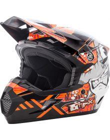 Gmax MX46 Hooper Youth Helmet Black/Orange