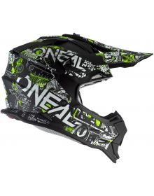 O'Neal 2020 2Series Youth Helmet Attack Black/Neon Yellow