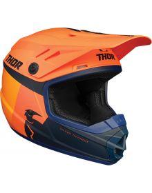 Thor 2021 Sector Racer Youth Helmet Orange/Midnight