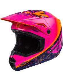 Fly Racing 2020 Kinetic K120 Youth Helmet Orange/Pink/Black