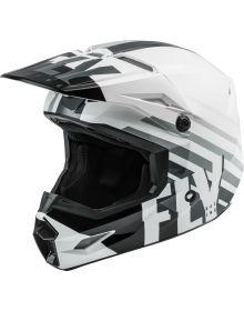 Fly Racing 2020 Kinetic Thrive Youth Helmet White/Black/Grey