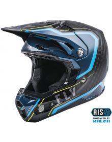 Fly Racing 2021 Formula Carbon Youth Helmet Axon Black/Blue/Hi-Vis