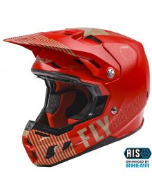 Fly Racing 2021 Formula Youth Helmet Primary Red/Khaki