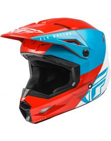 Fly Racing 2021 Kinetic Youth Helmet Straight Edge Red/White/Blue