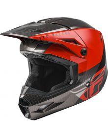 Fly Racing 2021 Kinetic Youth Helmet Straight Edge Red/Black/Grey