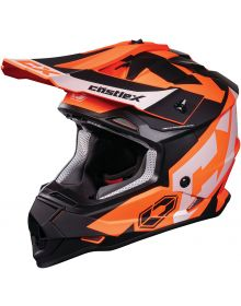 Castle X CX Mode MX Youth Helmet Flow Flo Orange