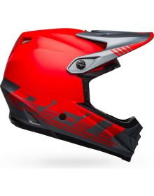 Bell 2021 Moto 9 Mips Youth Helmet Louver Matte Red/Gray