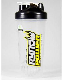 Ryno Power Sport Blender Bottle Clear 28oz