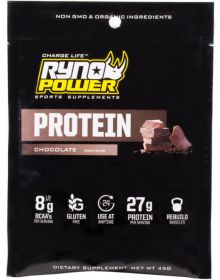Ryno Power Chocolate Protein Powder Pack Sport Supplements 1 Serving