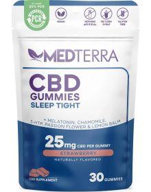 Medterra CBD Sleep Tight Strawberry Gummy 30 Count