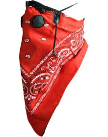Atv Tek Dust Bandana Red Paisley