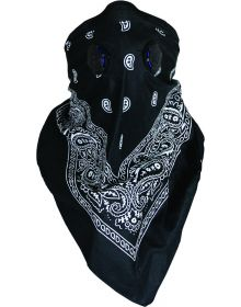 Atv Tek Dust Bandana Black Paisley