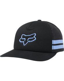 Fox Racing Head Trik Womens Trucker Hat Black/Blue