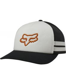 Fox Racing Head Trik Trucker Womens Hat White/Orange