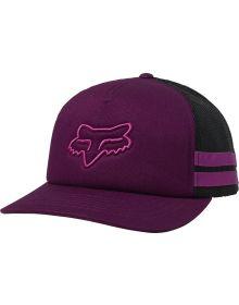 Fox Racing Head Trik Trucker Womens Hat Dark Purple