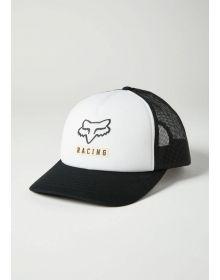 Fox Racing Born and Raised Trucker Cap Black/White