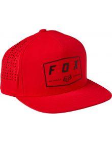 Fox Racing Badge Snapback Cap Flame Red