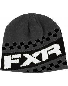 FXR Team Beanie Charcoal/White