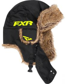 FXR Trapper Hat Womens Black/Hi-Vis