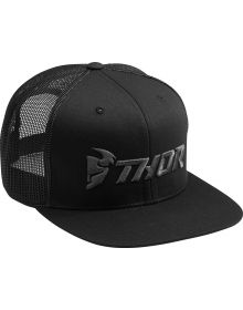 Thor Trucker Snapback Hat Black/Charcoal