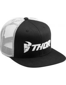 Thor Trucker Snapback Hat Black/White