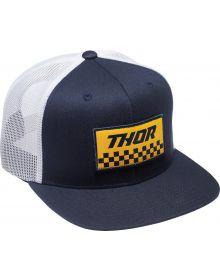 Thor Checkers Trucker Hat Navy/White