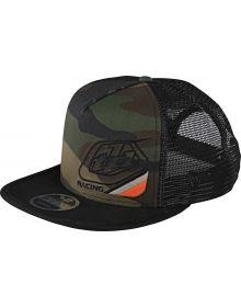 Troy Lee Designs Precision 2.0 Snapback Hat Green Camo