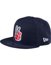 Troy Lee Designs Peace Sign Snapback Hat Navy