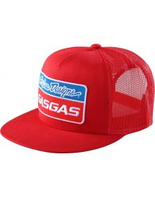 Troy Lee Designs Gas Gas Team Stock Snapback Cap Red