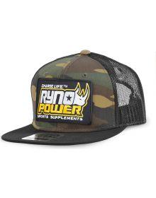 Ryno Power Black Mesh Snapback Hat Black/Camo
