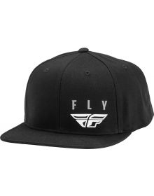 Fly Racing Kinetic Snapback Hat Black/White