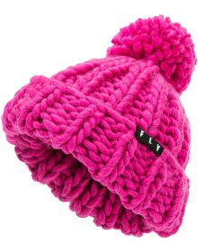 Fly Racing Cunky Pom Womens Beanie Pink