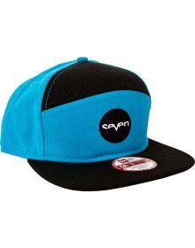 Seven Ozone Snapback Hat Cyan/Black
