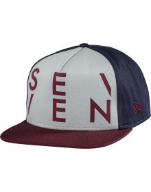 Seven Crossover Snapback Hat Cement/Navy