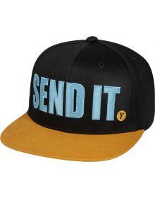 Seven Send It Snapback Hat Black/Tan