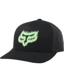 Fox Racing Flame Head Snap Youth Hat Black/Green