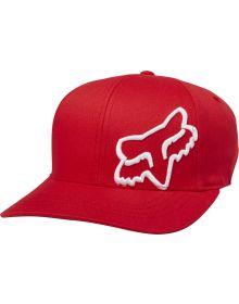 Fox Racing Flex 45 FlexFit Youth Hat Dark Red