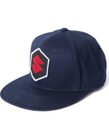 Factory Effex Suzuki Youth Mark Snapback Hat Navy