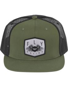 Fly Racing Freedom Snapback Youth Hat Army Green