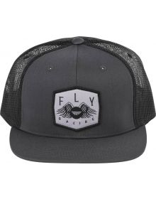 Fly Racing Freedom Snapback Youth Hat Grey
