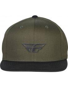 Fly Racing Weekender Snapback Youth Hat Army/Black